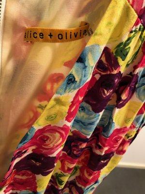 Alice + Olivia Sukienka mini Wielokolorowy Jedwab