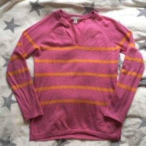 Designer Kaschmir Pullover rosa Pink orange