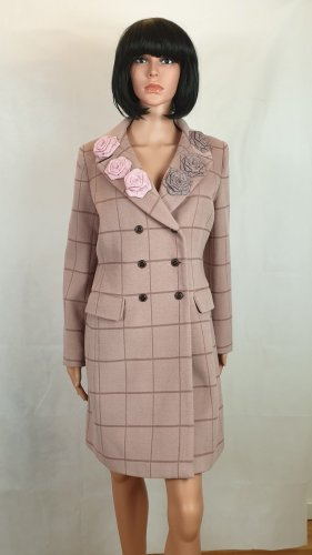 Manteau en laine or rose
