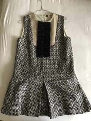 MSGM Mini Dress dark brown-white