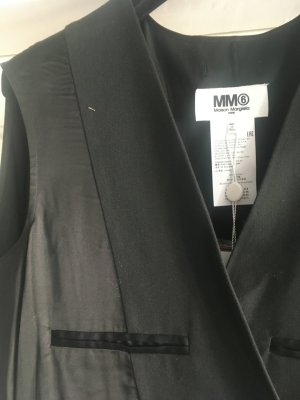 Mm6 By Maison Margiela Gabardina tipo vestido negro Seda