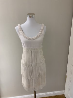 Temperley london Fringed Dress cream