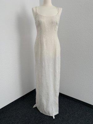 Designer Kleid in off white Gr.38-1x getragen