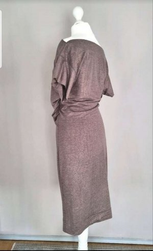 Vivienne Westwood Robe stretch bronze-gris brun coton
