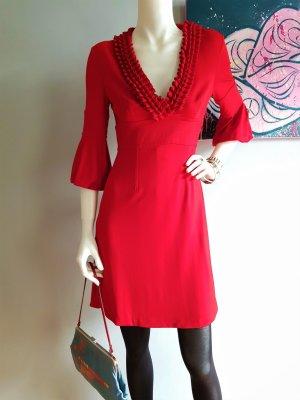 KAREN MILLEN Vestido corte imperio rojo