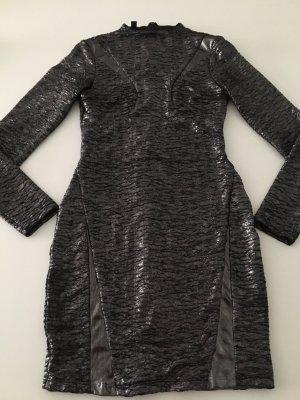 Designer Kleid silber S bebe Party Cocktail maje balmain 36