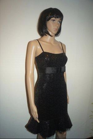 Designer Kleid von Vera Mont Pailletten Kleid Gr. 34/XS