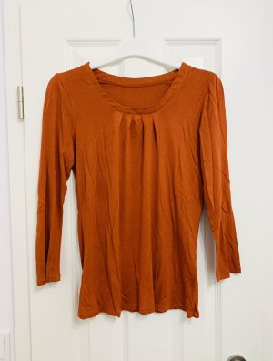 Designer Langarm Shirt/ Top/ Oberteil Bluse orange Gr. 36/S