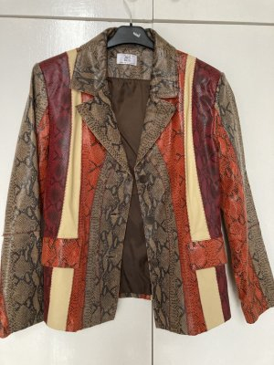 Alba Moda Leather Jacket multicolored