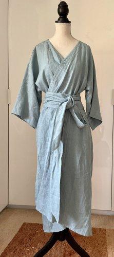 Designer Leinen Kimono/ Wickelkleid/ Mantel. Unikat.