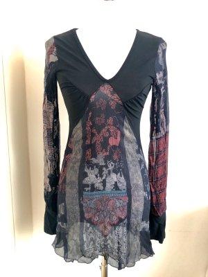 Designer Minikleid / Longtop mit transparentem Rücken