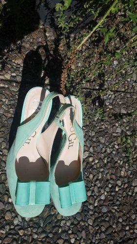 Paco Gil Escarpin à bride arrière turquoise