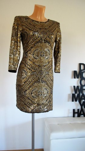 Designer Paillettenkleid Gr. S. NP ca. 1.500,-$ !! TOP !!