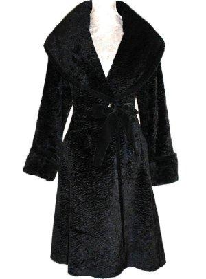 Blumarine Cappotto in eco pelliccia nero Viscosa
