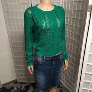 Designer-Pullover Strickpullover gemustert Häkelnpullover Guess M