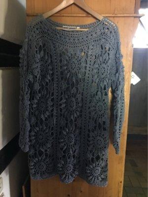 Nina Perosi Szydełkowany sweter chabrowy