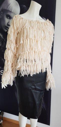 19V69 ITALIA Coarse Knitted Sweater natural white