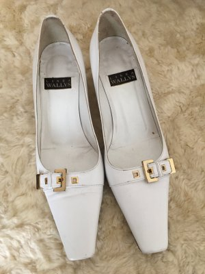 Designer Pumps Weiß Gold