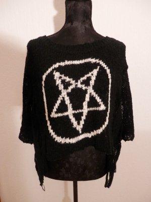 Designer Punk Rock Pullover Gothic Freak of Nature Pentagramm Fashion Blogger