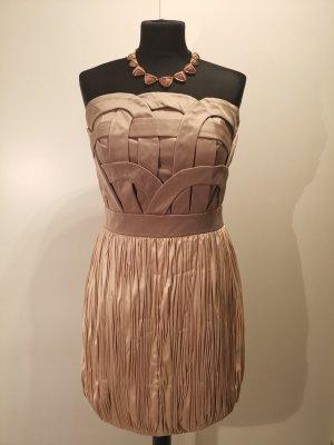 DESIGNER Rare Opulence SILVESTER Cocktail Kleid Satin Dress Bandeau 38 40 M L