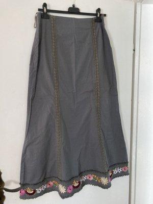 Suzanna Koronkowa spódnica khaki-różowy