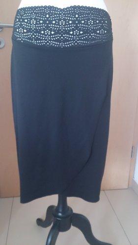 Falda cruzada negro