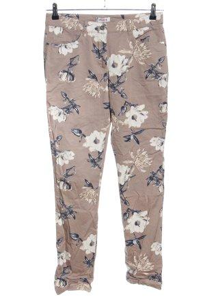 DESIGNER'S Pantalón de cinco bolsillos estampado floral look casual