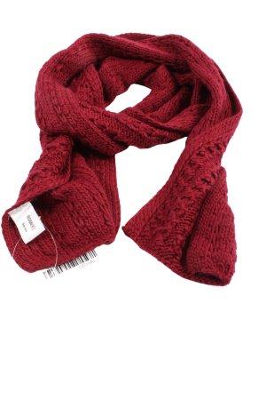 DESIGNER'S Écharpe en crochet rouge torsades style décontracté