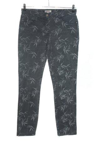 DESIGNER'S High Waist Jeans hellgrau Motivdruck Casual-Look