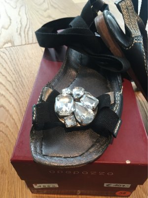 Apepazza T-Strap Sandals black-silver-colored