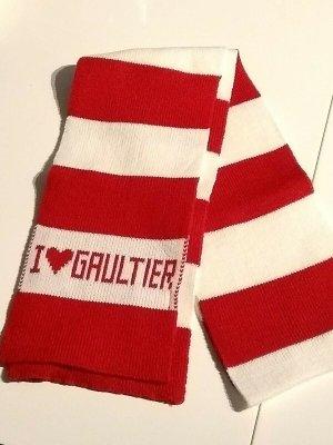 Jean Paul Gaultier Gebreide sjaal rood-wit