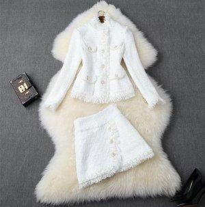 1.2.3 Paris Blazer en tweed blanc