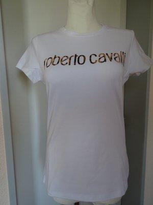 Roberto Cavalli Camicia fantasia bianco Cotone