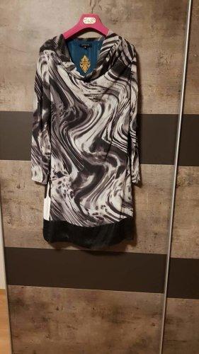 Designer Silk Kleid St. Martins schwarz/weiß Gr M/38