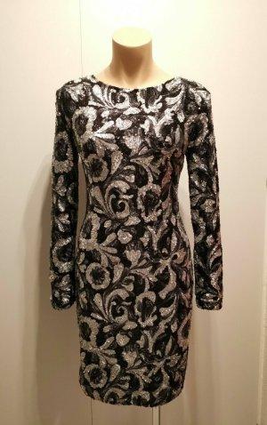 DESIGNER SILVESTER Party Cocktail Kleid sequin Dress Blogger Pailletten M 36 38