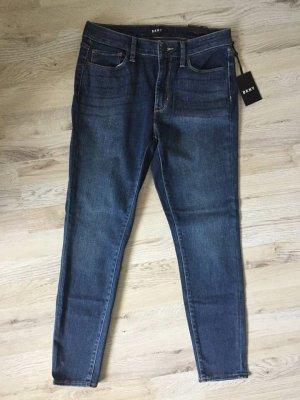 DKNY Jeans skinny bleu foncé coton