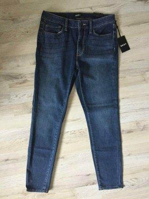DKNY Jeans skinny blu scuro Cotone