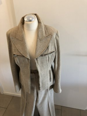 Designerstück Trouser Suit beige cotton