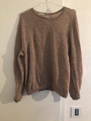 American Vintage Cienki sweter z dzianiny Wielokolorowy Wełna z alpaki