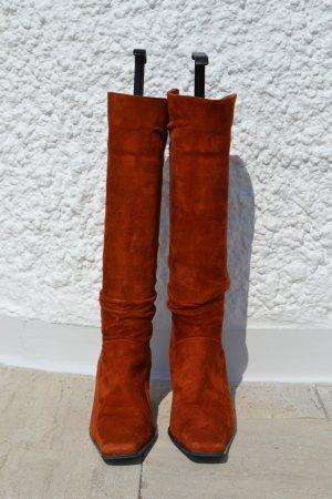 Fabrizio Monti Heel Boots cognac-coloured-dark orange