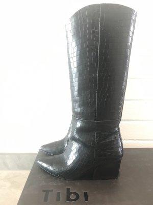 Tibi NYC Wide Calf Boots black