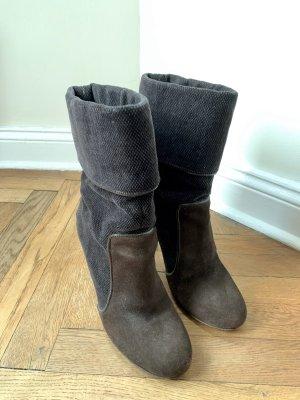 CNC Slip-on Booties dark brown