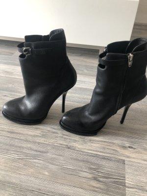 Alexander Wang Zipper Booties black leather