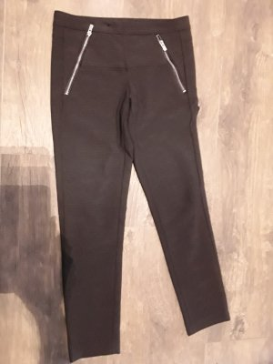 Maje 3/4 Length Trousers dark grey polyester