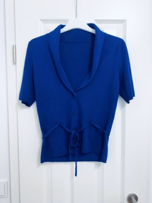 0039 Italy Knitted Bolero cornflower blue alpaca wool