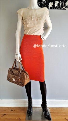 KAREN MILLEN Gonna lavorata a maglia arancione-arancione chiaro Viscosa
