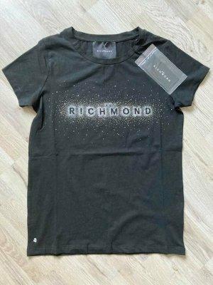 John Richmond T-shirt nero-argento Cotone