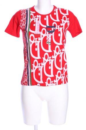Dior Camiseta rojo-blanco Viscosa