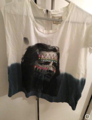 Eleven Paris T-shirt bianco sporco-petrolio