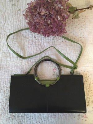 Designer Tasche Italy Schwarz Grün